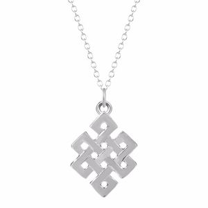 Jewelry - Silver Infinite Love Knotted Pendant Necklace